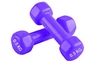 Гантели виниловые Pro Supra 2 шт по 0,5 кг фиолетовые - фото 1