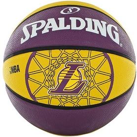 Фото 1 к товару Мяч баскетбольный резиновый Spalding Lakers