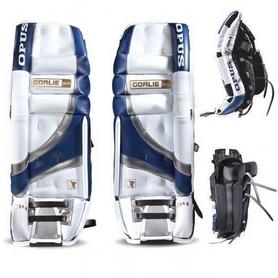 Щитки хоккейные вратарские мужские Opus 3721 3000 white/blue