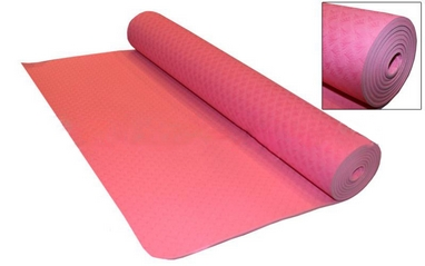Коврик для фитнеса Yoga mat TPE+TC 4мм FI-3973 светло-розовый