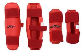 Защита для тхэквондо (предплечье+голень) ZLT BO-4382-R красная (4 шт)