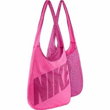 Сумка женская Nike Graphic Reversible Tote розовая