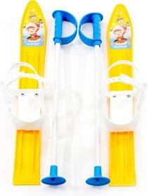 Лыжи с палками детские Marmat 60 см желтые