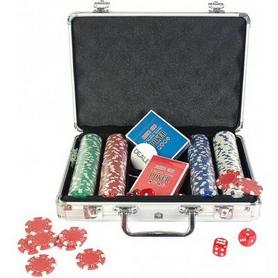 Фото 1 к товару Набор для игры в покер в алюминиевом кейсе 200 фишек CG-11200