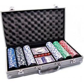Набор для игры в покер в алюминиевом кейсе 300 фишек CG-11300