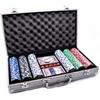Набор для игры в покер в алюминиевом кейсе 300 фишек CG-11300 - фото 1