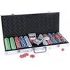 Набор для игры в покер в алюминиевом кейсе 500 фишек CG-11500 - фото 1