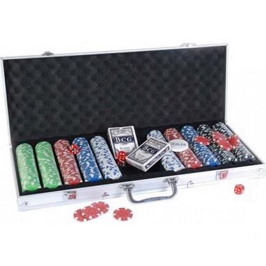 Набор для игры в покер в алюминиевом кейсе 500 фишек CG-11500