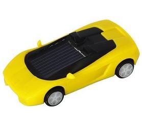 Фото 1 к товару Машинка на солнечной батарее Solar Ламборджини желтая
