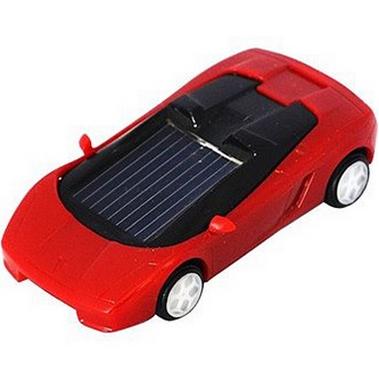 Машинка на солнечной батарее Solar Ламборджини красная