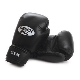 Перчатки боксерские Green Hill Gym черные - 12 oz