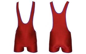 Трико борцовское подростковое двухстороннее Combat Budo сине-красное