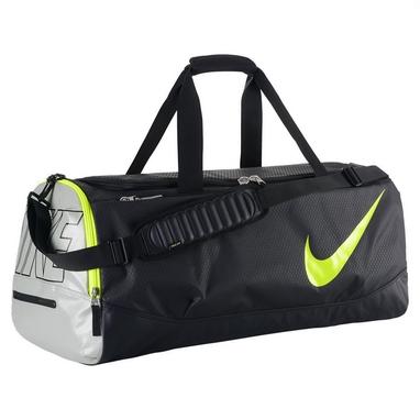 Сумка спортивная Nike Court Tech Duffle черно-салатовая
