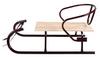 Санки зимние Овен 560 со спинкой бордовые - фото 1