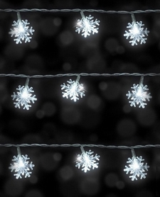 Гирлянда Luca Lighting Снежинка 3,9 м