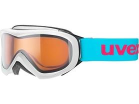 Маска горнолыжная детская Uvex wizzard бело-голубая