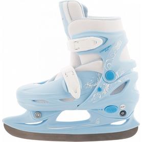 Коньки раздвижные детские Nordway CLICK-GIRL Kid's adjustable ice skates голубые