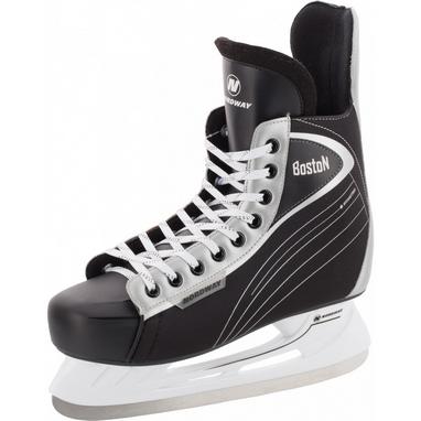 Коньки хоккейные детские Nordway BOSTON JR Hockey ice skates черный-серые
