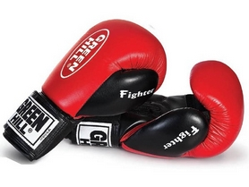 Перчатки боксерские Green Hill Fighter красные