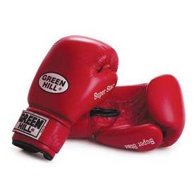 Перчатки боксерские Green Hill Super Star красные