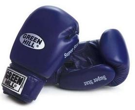 Перчатки боксерские Green Hill Super Star синие