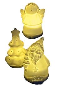 Комплект из 3-х декоративных фигурок Ангел/Елка/Санта Luca Lighting