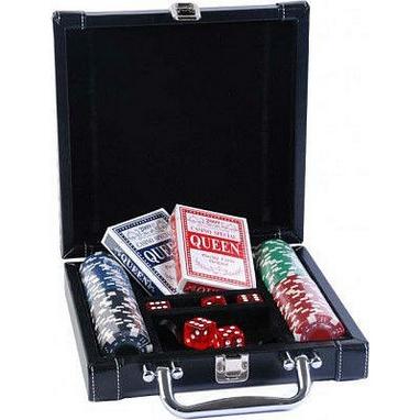 Набор для игры в покер в кожаном кейсе Duke DL-100
