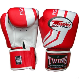 Фото 1 к товару Перчатки боксерские Twins FBGV-43W-RD красные