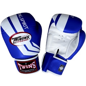 Фото 1 к товару Перчатки боксерские Twins FBGV-43W-BU синие