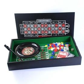 Набор настольных игр 2 в 1 (рулетка и мини покер с фишками) Duke 38-2820