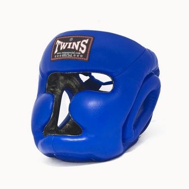 Шлем боксерский с полной защитой Twins HGL-3-BU синий
