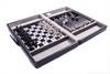 Набор из 3 игр в кожаном кейсе (шахматы, шашки, нарды) Duke SG1150 - фото 3