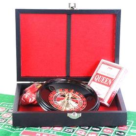 Набор настольных игр 2 в 1 (рулетка + покер в кожаном кейсе) Duke REL05001