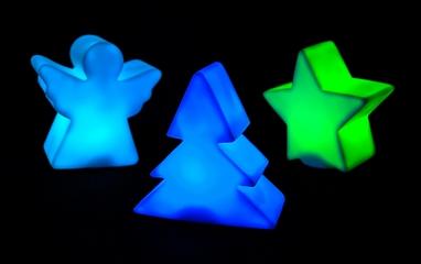 Комплект из 3-х декоративных фигурок Елка/Звезда/Ангел Luca Lighting