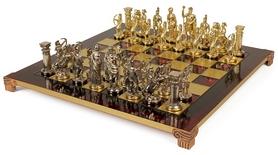 "Шахматы Manopoulos ""Лучники"" 28х28 см S15RED"
