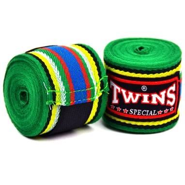 Бинты боксерские Twins CH-2-GN-5 зеленые (2 шт)