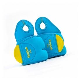 Фото 1 к товару Утяжелители для рук Reebok 2 шт по 1.5 кг голубые