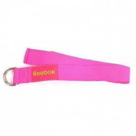 Фото 1 к товару Ремень для йоги Reebok розовый