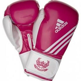 Перчатки боксерские Adidas Fitness пурпурно-белый