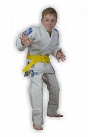 Фото 2 к товару Кимоно для бразильского джиу-джитсу детское Muri Oto Kiddo 0300 белое