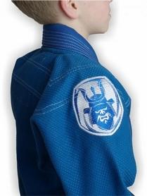 Фото 4 к товару Кимоно для бразильского джиу-джитсу детское Muri Oto Kiddo 0302 синее