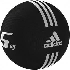 Фото 1 к товару Медбол Adidas 24 см 5 кг черный