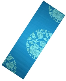 Коврик для йоги Live Up PVC Yoga Mat With Print 6 мм blue
