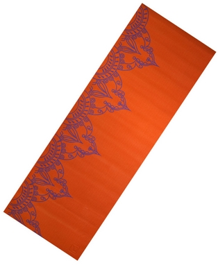 Коврик для йоги Live Up PVC Yoga Mat With Print 6 мм orange
