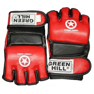 Перчатки для боевого самбо Green Hill MMA-0027 красные