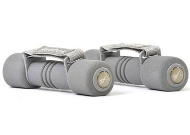 Гантели для фитнеса Reebok 2 шт по 1 кг серые