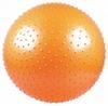 Мяч для фитнеса (фитбол) 65 см массажный Live Up оранжевый - фото 1