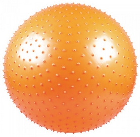 Мяч для фитнеса (фитбол) 65 см массажный Live Up оранжевый