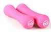 Гантели для фитнеса неопреновые LiveUp Neoprene dumbbell 0,5 кг розовые - фото 1
