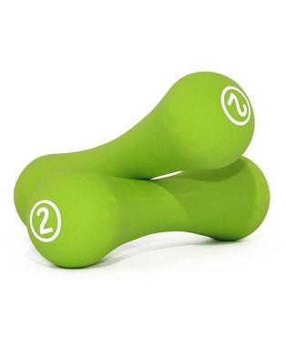 Гантели для фитнеса неопреновые LiveUp Neoprene dumbbell 2 кг зеленые